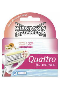 WILKINSON SWORD QUATTRO FOR WOMEN BLADES - 3 PACK Papaya And Pearl