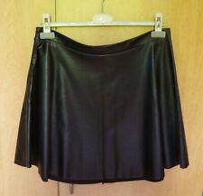 Zwarte netleren A-lijn rok van Softgrey Maat 38