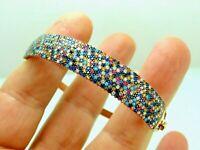 Turkish Handmade Jewelry 925 Sterling Silver Ruby Stone Women Bangle
