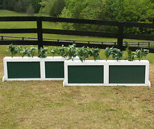 "Horse Jumps Wooden 2 Panel Brush Box Set/2 - 5ft x 18"" Color Choice #408"
