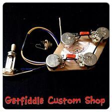 50s Wiring Kit Les Paul Gibson Long Shaft Pots .022uf .015 Sprague Switchcraft
