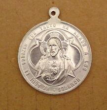 Molto grande Pellegrini amuleto-medaglione-Cuore di Gesù/Cuore Commemorazione (af02)