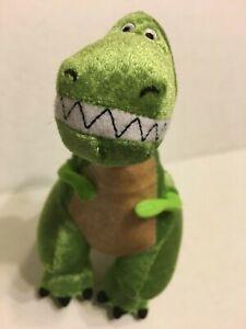 "Disney Store Toy Story  Rex  Green Dinosaur 9"" Plush Stuffed Animal"