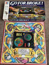Vintage Retro Go For Broke Board Game 1985 MB Games COMPLETE