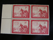 1951 United Nations People of the World - 1¢ - MNH Plate Block 4 - Scott #1