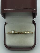 Vintage 14k & 18k Yellow Gold .10ct Diamond Engagement Wedding Band Ring Size 6