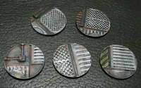 Warhammer 40k Industrial Themed Miniature Bases (10 per lot) 25mm, 32mm, 40mm