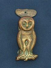 Vintage Small Brass Door Knocker C1920 - Barn Owl