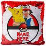 Personalised Pokemon Sequin Cushion Pillow Magic Reveal Boys Christmas Gift MC7