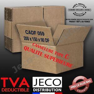 Lot Cartons Caisse Emballage Déménagement Expédition Simple Cannelure 23 tailles