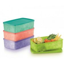 Tupperware Snowflake Square Round 1.3L (Set of 4) + Free Shipping