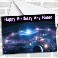 Solar System Personalized Birthday Card