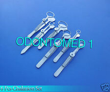 SET OF 6 PCS O.R GRADE CHALAZION FORCEPS SURGICAL DERMAL OPHTHALMIC INSTRUMENTS