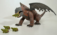 "2010 Gronckle Eating R.D. RD Red Death 9"" Action Figure How To Train Your Dragon"