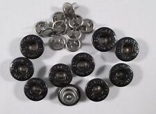 Jeans Knopf 10 stück mit Niete  schwarz      knöpfe 14 mm #633#