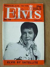 ELVIS PRESLEY MONTHLY MAGAZINE No 159