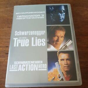 Terminator 3 True Lies Last Action Hero Triple DVD R4 Like New! FREE POST