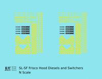 K4 N Decals SLSF Frisco Hood Diesel Yellow