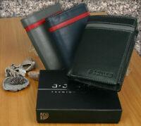 Leder Geldbörse RFID-Schutz Portemonnaie Echtleder Geldbeutel Herren J.Jones