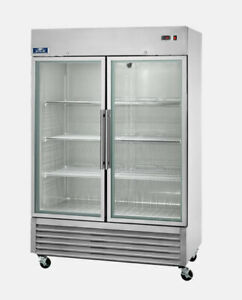 """Arctic Air AGR49 54"""" Two Section Glass Door Reach-In Refrigerator - 49 cu. ft.NS"""