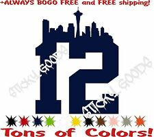 2- 12th Man Decals Sticker NFL Seattle Seahawks Vinyl Window Decal Originals!!