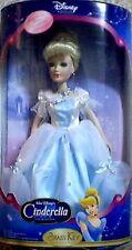 "Disney Cinderella Porcelain Doll Brass Key 15"" tall NEW"