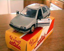 CITROEN ZX 1991 SOLIDO 1/43 MADE IN FRANCE GRISE GREY SILVER HACHETTE PAPER BOX