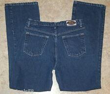 JR Womens JEANS Blue Asphalt Button Fly 30 x 32 Size 9 Flared Leg Denim
