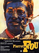 Pierrot Le fou Jean-Paul Belmondo Jean-Luc Godard cult movie poster print