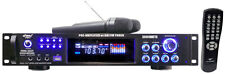 PYLE PRO 3000 WATT HYBRID PRE AMP AMPLIFIER with AM/FM TUNER USB 2 WIRELESS MICS