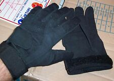 2XL SIZE TAC GLOVES - BLACK ADJUSTABLE WITH SUEDE LEATHER PALMS