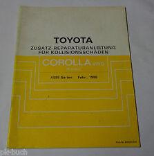 Werkstatthandbuch Toyota Corolla 4WD Kombi Karosserie / Kollisionsschäden, 02/88