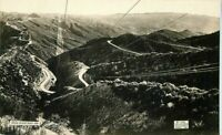 1921 Ridge Route Los Angeles-Bakersfield Flag Studio Newhall to Baileys RPPC