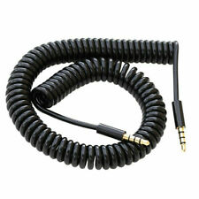 Black Coiled AUX Jack Cable Wire For  Samsung Captivate Glide