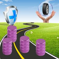 4x Car Wheel Tire Valve Caps Accessories Metal Purple Airtight Stem Air Cap Hot