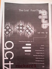 The GRID 4-5-6 album1992 UK Poster size Press ADVERT 16x12""