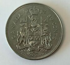 Canada 1982 50-Cent Coat of Arms Half Dollar Coin
