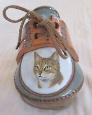 Vintage *The Clay Cobbler* Ceramic, Terra Cotta Kitty Cat Shoe 4 1/2� X 4 1/2�