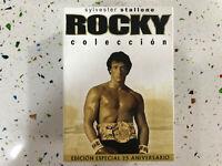 ROCKY COLECCION SYLVESTER STALLONE EDICION ESPECIAL I II III IV V 5 DVD FOX AM