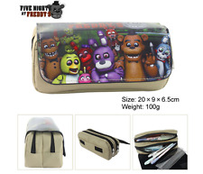New FNAF Five Nights At Freddy's Cartoon Kids Student Supplies Pencil Case Bags