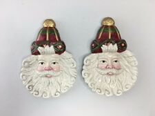 "Spoon Rests - Set of 2 ~Santa Face ~ Christmas - Lily Creek Landing - 7"" X 4.5"""