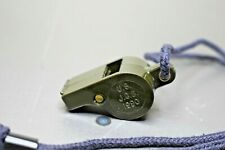 Us Military Jgb Whistle With cord Olive Green Vintage 1990.