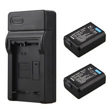 2x 1500mAh NP-FW50 Battery + Charger For Sony Alpha 7 a7 a7S a6000 NEX-5N 5C A55