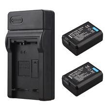 2x 1500 mAh NP-FW50 Batería + Cargador para Sony Alpha 7 a7 a7S a6000 NEX-5N 5 C A55