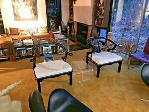 """James Mont Style Chinese Ming """"Horseshoe"""" Chairs by Century Furniture"""