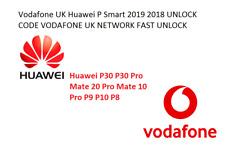 Vodafone UK Huawei P30 P30 Pro Mate 20 Pro Mate 10 Pro UNLOCK CODE FAST Service