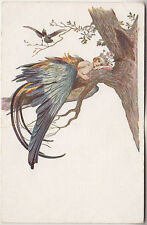 Russia, Art, Solomko, Blue bird, PPC pre 1917