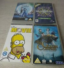 Sony PSP -  Games/Films X 4  - The Corpse Bride - The Golden Compass - The Simps