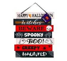 Happy Halloween Hanging Wall Sign Home Decor