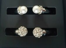 Bracelets Imitation Pearl and Crystal Fireball Hinge Bracelets